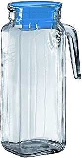 BORGONOVO 13110035 Bartenders Choice Square Igloo Jug, Clear Glass