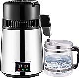 Wxnnx Destilador de Agua de 4 l, destilador de Agua Pura con Pantallas de Temperatura Dual, máquina de Agua destilada de 750 W con Recipiente de Vidrio