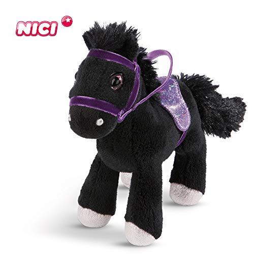 NICI Kuscheltier Pferd Black Cassis 16 cm – Plüschtier Pferd für Mädchen, Jungen & Babys – Flauschiges Stofftier zum Kuscheln, Spielen und Schlafen – Gemütliches Schmusetier für jedes Alter – 44896