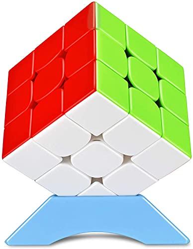 QiYi 競技用キューブ 3x3x3 魔方 【磁石内蔵】 磁石キューブ 6面完成攻略書+スタンド付き プロ向け 達人向け (磁石競技版)