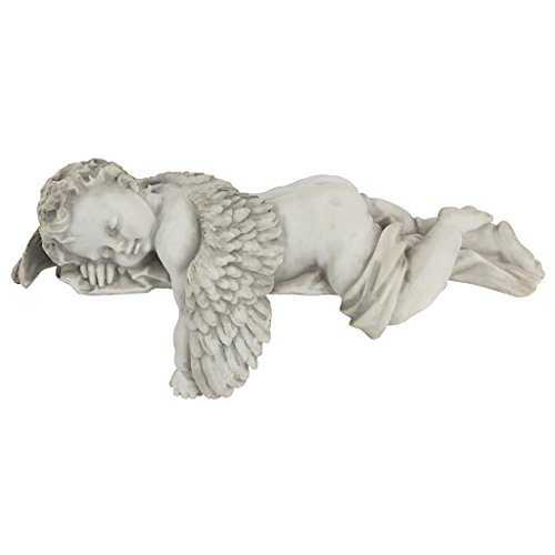 Design Toscano NG34033 Sleepy Time Baby Angel Napping Shelf Sitter Statue, 12 Inch, Single