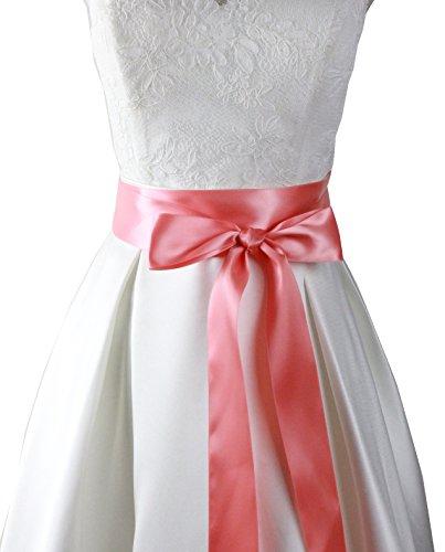 Handgefertigter Hochzeits-Gürtel/Schärpe von Lemandy Gr. Einheitsgröße, lachsfarben