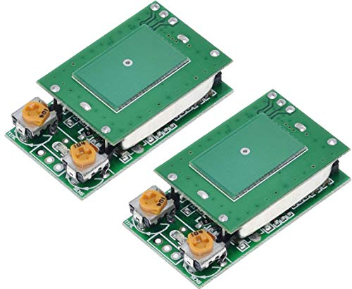 TECNOIOT 2pcs HFS-DC06 HFS-DC06H 5.8GHz Microwave Radar Sensor Switch Module ISM 5V 5.8G