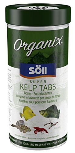 Söll 16250 Organix Super Kelp Tabs 490 ml (227 g) - Fischfutter Bodenfuttertabletten mit Vitaminen und Spurenelementen für Pflanzenfresser wie Garnelen, Krebse, Welse und Cichliden im Aquarium