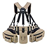 JACKSON PALMER Professional Comfort-Rig Tool Belt With Suspenders (Adjustable System with 2-Power Tool Hooks)
