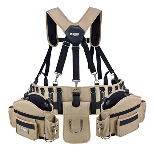 JACKSON PALMER Professional Comfort-Rig Tool Belt With Suspenders (Adjustable System with 2-Power...