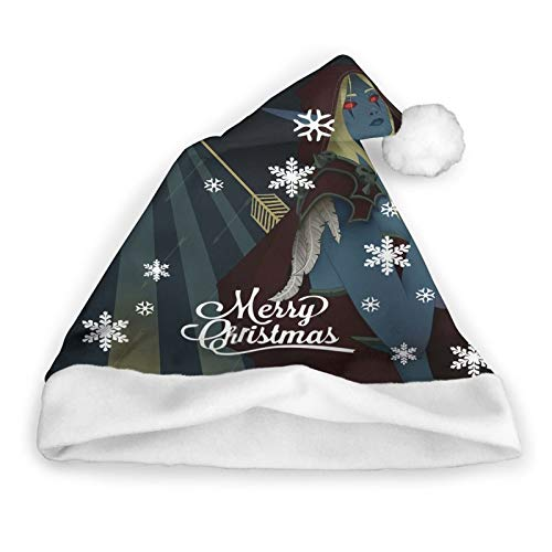 Lady Sylvanas Windrunner Tarot Card Plush Christmas Hat Party Holiday Santa Hat Xmas Beanie