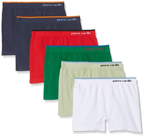 Pierre Cardin PC388, Pack x 6 Bóxers Sin Costuras Para Niño, Multicolor, 12/14