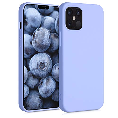 kwmobile Case Compatible with Apple iPhone 12 Max / 12 Pro - Soft Rubberized TPU Slim Protective Cover for Phone - Light Lavender