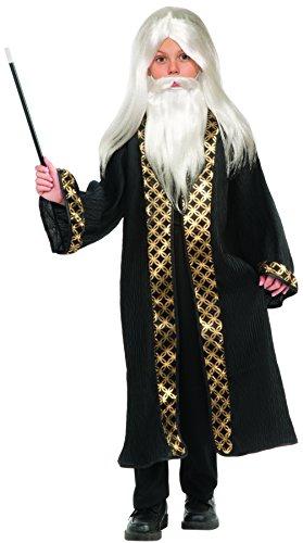 Forum Novelties Child's Wizard Wig, Moustache, & Beard Costume, White