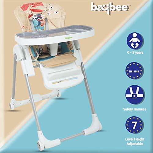 Baybee LittleHug 7 Position Height Adjustable Baby High Chair Baby Feeding Chair