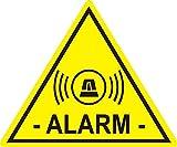 5 Stück Aufkleber Alarm, iSecur, alarmgesichert, 5x4cm, Art. hin_459 innen, Achtung, Vorsicht, Hinweis auf Alarmanlage, innenklebend für Fensterscheiben, Haus, Auto, LKW, Baumaschinen