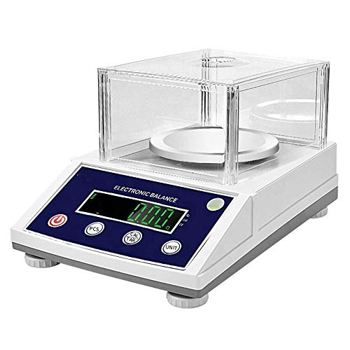 NEWTRY 300gX0.001g High Accuracy Digital Lab Scale Analytical Balance Lab Electronic Precision Balance Scale Weighing Carat/g/lb/oz (110V US Plug, 60HZ  , MAX 300g 0.001g)