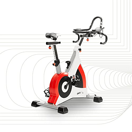 SportPlus Ergometro Cyclette Speedracer con Freno Elettromagnetico fino a 500 Watt, Peso...