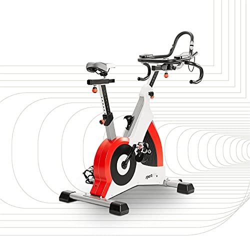 SportPlus Ergometro Cyclette Speedracer con Freno Elettromagnetico fino a 500 Watt, Peso Utente fino a 150 kg, Spin Bike SP-SRP-3000