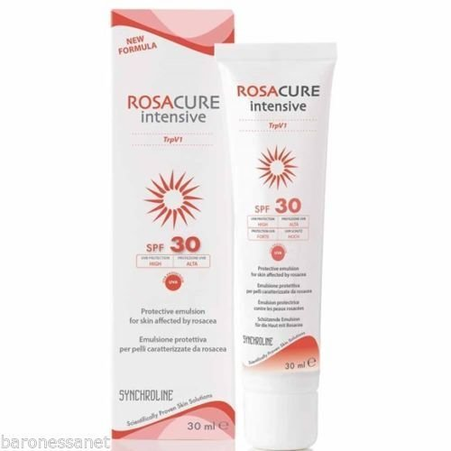 Synchroline Rosacure - Crema intensiva con SPF 30,30ml, para el enrojecimiento de la rosácea y la protección contra el sol