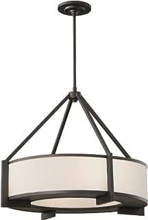 Feiss P1152ORB Stelle Drum Pendant Lighting, Bronze, 4-Light (25