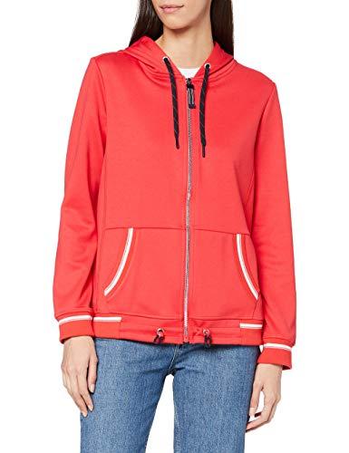 Cecil Damen 253168 Sweatjacket Strickjacke, Hibiscus red, XL