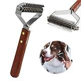 AIDIYA Profesional Pet Dematting Peine Grooming Stripping Herramienta para Perros y Gatos (8.8cm)