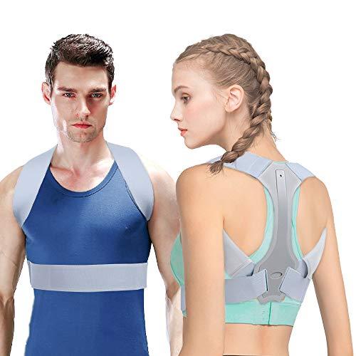 Corrector Postura HOPAI Corrector de Postura Espalda y Hombros para Hombre y Mujer Faja para Dolor de Espalda Corregir de Postura (Nuevo L: 85-100 cm)