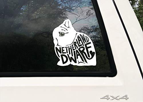Yilooom Nederland Dwerg (w tekst) Decal Bumper Sticker/Dwerg Bunny Show Konijn Liefhebber Gift voor auto, telefoon, Laptop, kooi, voedsel Bin, Waterfles 4 inch - 2 Packs 6 inches Meerkleurig