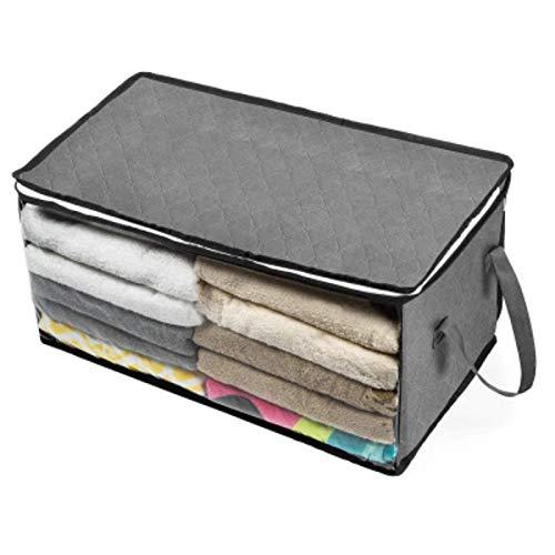 Bolsa de almacenamiento de edredón plegable, caja de almacenamiento de ropa para el hogar, edredón no tejido a prueba de polvo, almacenamiento, sujetador, calcetines, organizador de armario