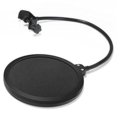 InnoGear Microphone Pop Filter Swivel with Double Layer Sound Shield Guard Windscreen for Blue Yeti Blue Snowball and Other Recording Studio Mic