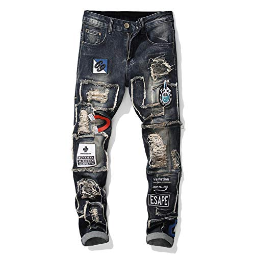 Heren Broeken voor vrouwen Casual Jeans Sale Men Skinny Stretch Denim Pants Slim Fit Jeans Broeken,a,32
