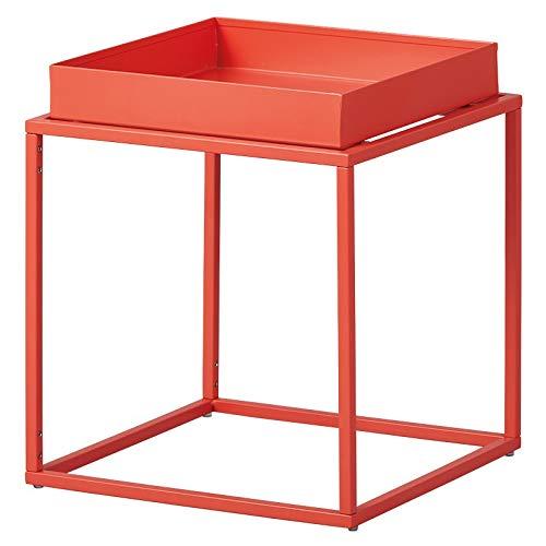 Paris Prix - Table D'appoint Design en Métal eza 40cm Orange