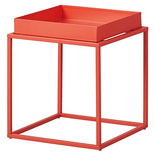 Paris Prix - Table D'appoint Design en Métal eza 40cm Orange