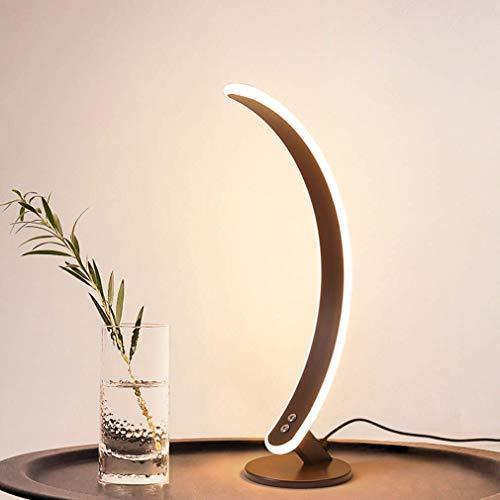 Lámpara de pie de arco, lámparas de pie regulables modernas, con lámpara de pie de aluminio con control remoto, lámparas de mesa altas marrones para sala de estar, comedor, dormitorio, mesita de noch