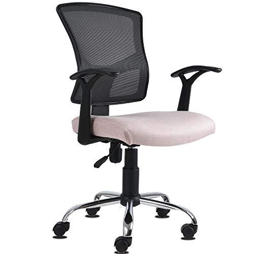 AMVIA Silla de Oficina Ergonomica - Silla de Escritorio Ejecutiva | Giratoria con Respaldo, Ideal para Home Office y Trabajo - Reclinable (Rosa)