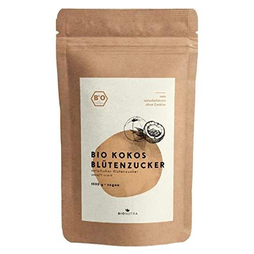BIONUTRA® Azúcar de flor de coco ecológico 1500 g, azúcar de coco, sin refinar, azúcar de flor natural de cultivo ecológico controlado.