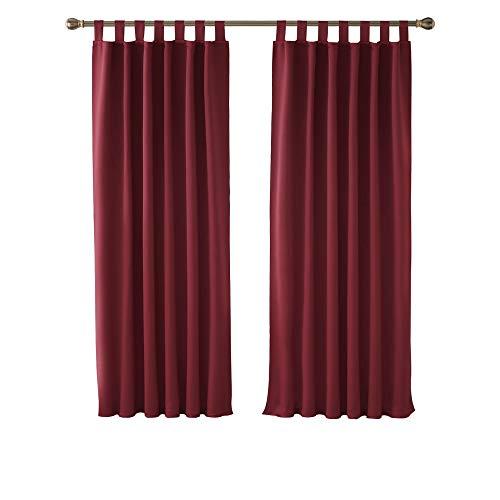 cortinas habitacion rojas
