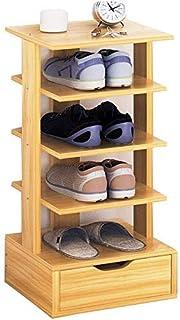 CXVBVNGHDF Étagère à Chaussures 5 Niveaux Pantoufles étagères de Rangement étagère Organisateur Bois MDF Panneau Stable De...
