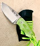 NIETO - 136-VK Cuchillo de cuello Nieto CHAMAN MICRA. Acero AN-58. Mango de Micarta verde. Hoja 6...
