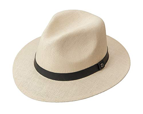 Broner Miracle Safari Hat in Natural with Black Leatherette Band, XL