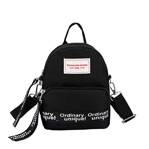 Xisimei Canvas Shoulder Bag, Shoulder Bag, Shoulder Bag for Women, Satchel, Small Shoulder Bag, Handbag, Shoulder Bag, Black (Black) - Xisimei-729