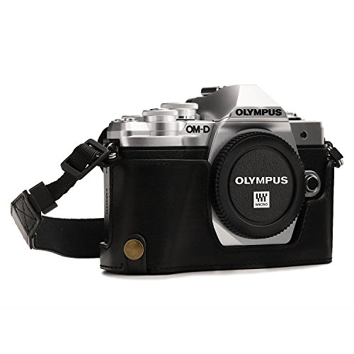 MegaGear MG1350 Estuche para cámara fotográfica - Funda (Funda, Olympus, OM-D E-M10 Mark III, Tirante para Hombro, Negro)