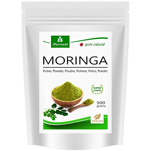 Moringa en poudre 500g PREMIUM PLUS, garantie meilleure qualité (1x500g)