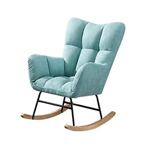 Dfghbn Schaukelstühle Faules Sofa Balkon Freizeit Home Rocking Chair Nordic Single Small Apartment Sofa Schlafstuhl (Farbe : Blue1, Size : 82x55x75cm)