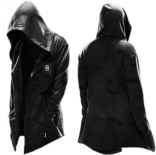 EA-SDN Assassin's Creed Kapuzenpullover Jacke Herren,Cosplay Mantel Cool Wit Kordelzug Hoodie Herren (2,L)
