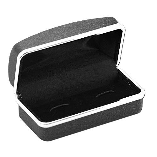 tumundo Box Busta Custodia Confezione Regalo trasportino per Gemelli Gioielli Orecchini Piercings Plugs Nero