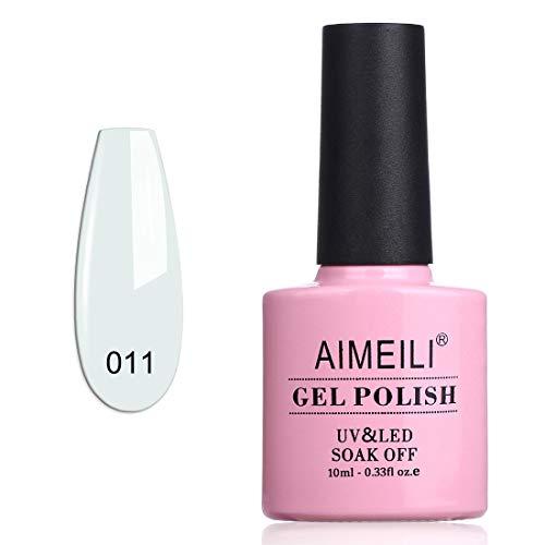 AIMEILI UV LED Gellack ablösbarer Gel Nagellack weiß Gel Nail Polish - Studio White Arctic White (011) 10ml