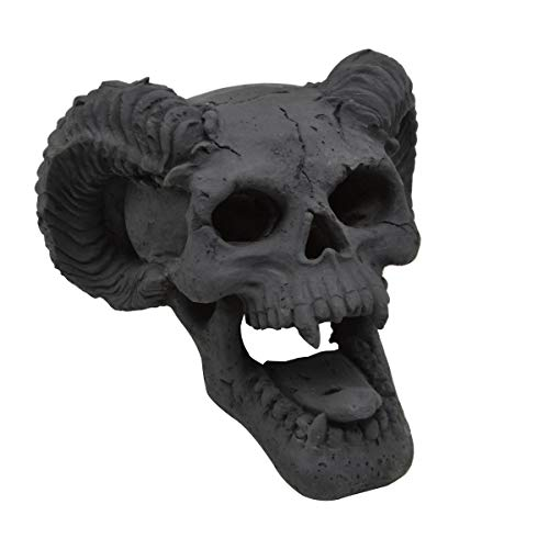 Stanbroil Demon Fireproof Fire Pit Fireplace Skull Gas Log for Ventless & Vent Free, Propane, Gel, Ethanol, Electric, Outdoor Fireplace and Fire Pit, Halloween Decor - Patent Pending
