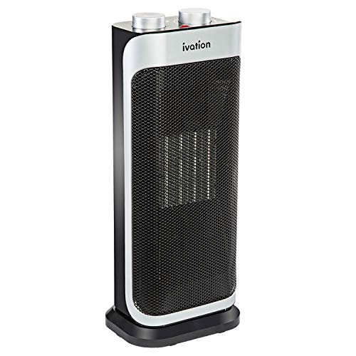 Ivation Ceramic Fan Heater – 1500W Oscillating 3-in-1 Heater & Fan w/Self-Regulating Thermostat, Adjustable Temperature & Fan Strength, Removable Filter, Overheat & Tip-Over Protection & Carry Handle Digital Heater Space
