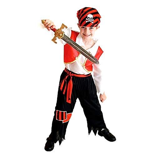 Disfraz de pirata - disfraz - carnaval - halloween - corsario de los mares - caribe - multicolor - niño - talla m - 3/5 años - idea de regalo para cumpleaños