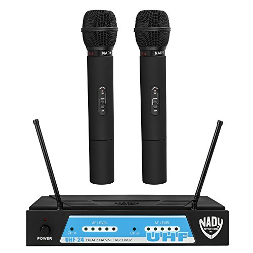 Nady UHF-24 Wireless Dual Handheld Microphone System with True Diversity