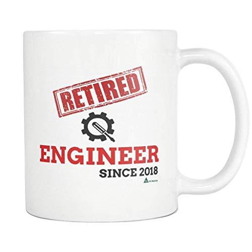 Ingeniero divertido Taza Taza de café retirada desde 2018 Regalo para el ejército eléctrico Química Mecánica Ingeniería civil Escuela Estudiante Jubilación jubilada