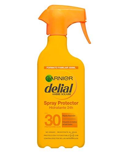 Garnier Delial Spray Protector Hidratante 24 Horas, con SPF30 - 300 m